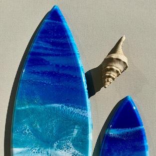 Resin Surfboard Wall Art