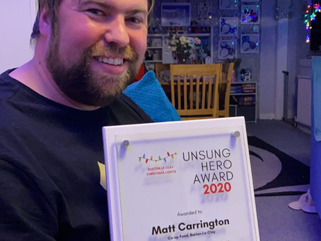 Vice-Chair Awarded Unsung Hero Award