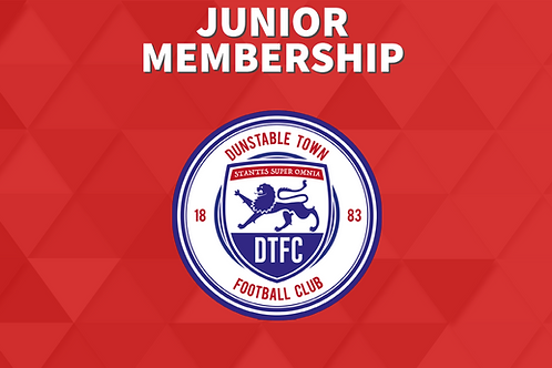 Dunstable Town Yearly Junior/Youth Membership (Under 16)