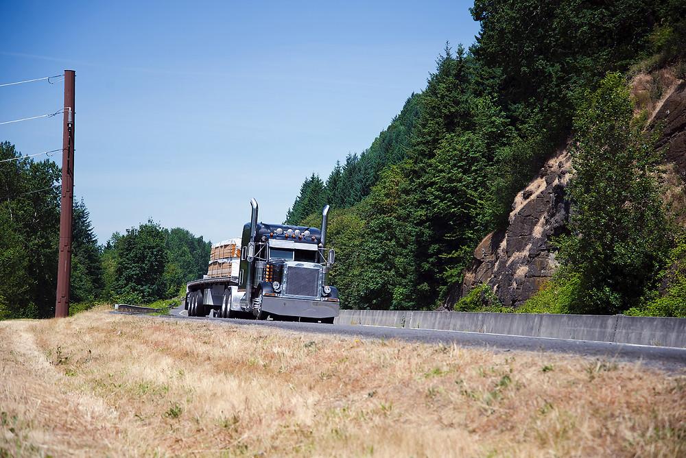 Semi-Truck that Needs Roadside Assistance