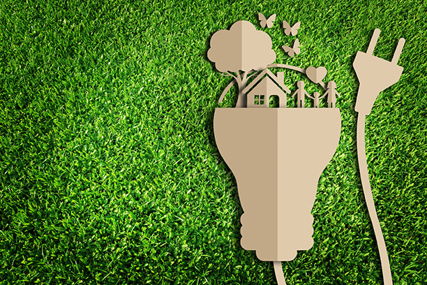 Eco-Friendly Homes on Light Bulb