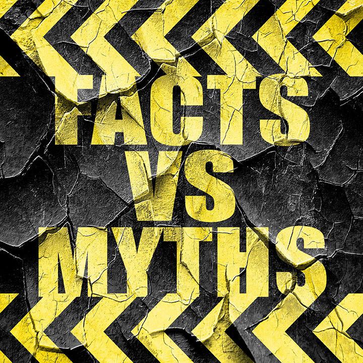 Auto shop facts vs myths graphic