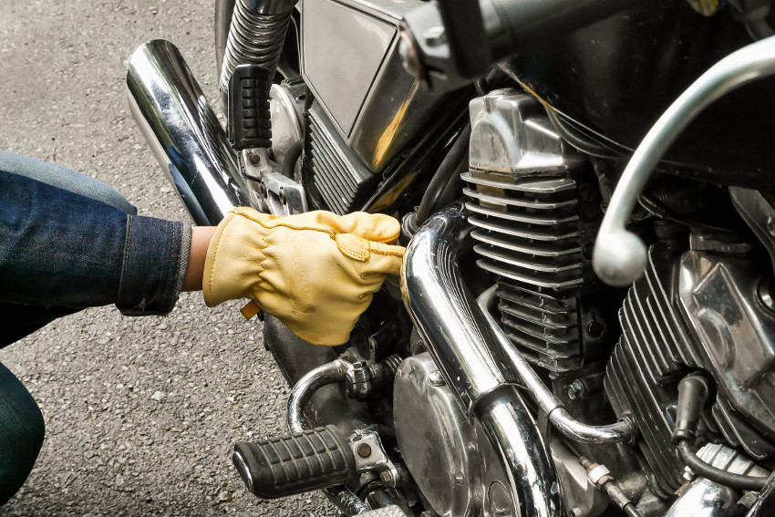 maintaining a motorcycle at an auto shop