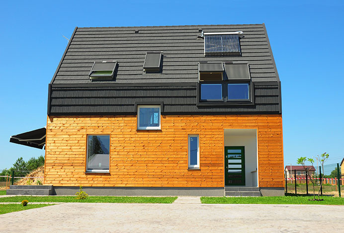 home built with sustainable architecture