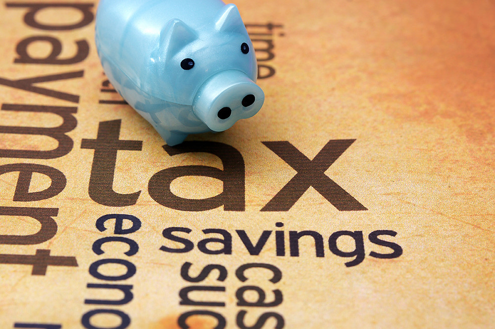 illustration of piggy bank for green building tax credits