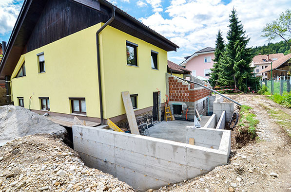 home built with ICF block construction