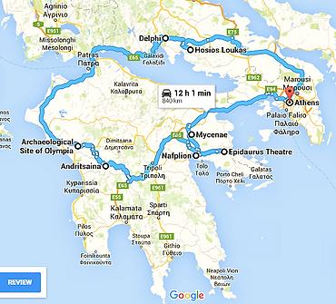 Itinéraire Grèce classique