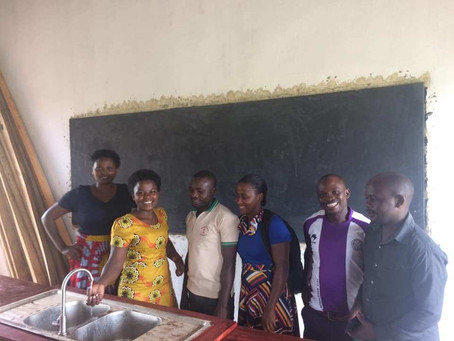 A new science lab at Kihembe Secondary School