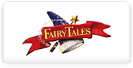 fairy tales logo with wizar hat