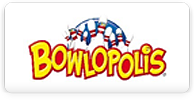 bowlopolis logo with pins
