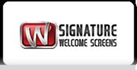 Signarure welcome screens logo