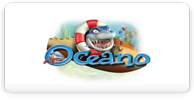 Oceano logo with shark in life preserver