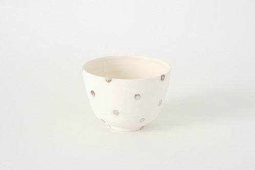 銀彩ドットの抹茶椀
