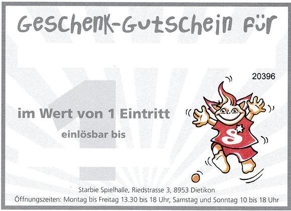 Geschenkkarte 1 Eintritt