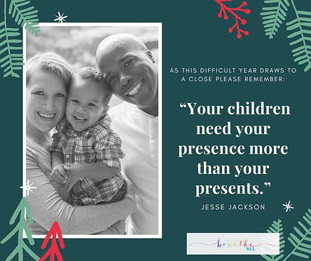 """Your children need your presence more t"