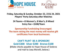 Tennis Tournament to Benefit Hope House                       October 22, 23, & 24, 2021