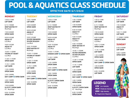 TEMPORARY POOL SCHEDULE