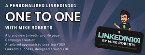 LinkedIn Training one to one with Mike Roberts