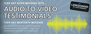 Audio to video testimonials