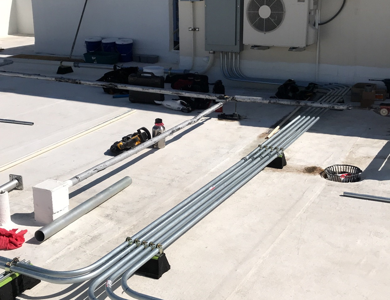 Roof Top Conduit and Distribution Panel Installation