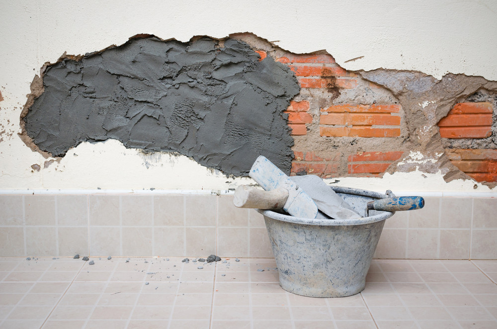 Repair cracked wall