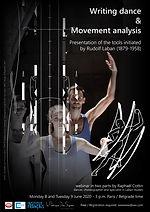 Webinaire sur l'écriture et l'analyse du mouvement Laban - Belgrade Dance Institute et Institut Français de Serbie, 2020 © Frédéric Iovino et Raphaël Cottin