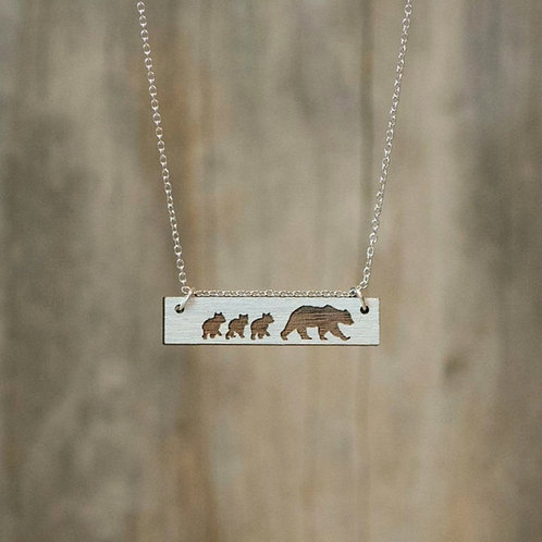 Mama and Cubs Necklace