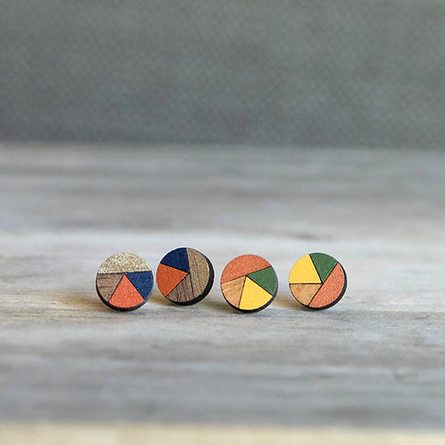Fractioned Circle Studs