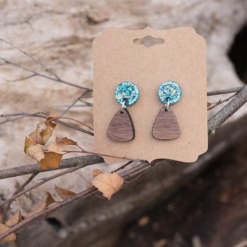 Triangle Drop Stud Earring