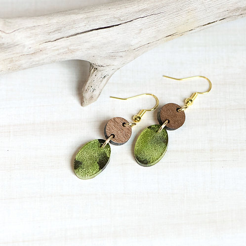 Mini Resin Leaf Earrings