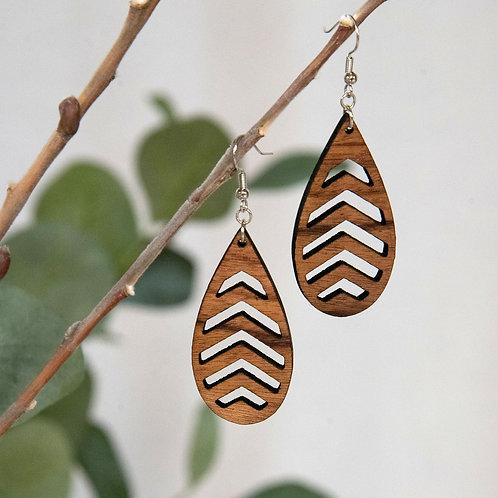 Chevron Teardrop Earrings