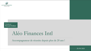 Présentation du Cabinet Aléo Finances