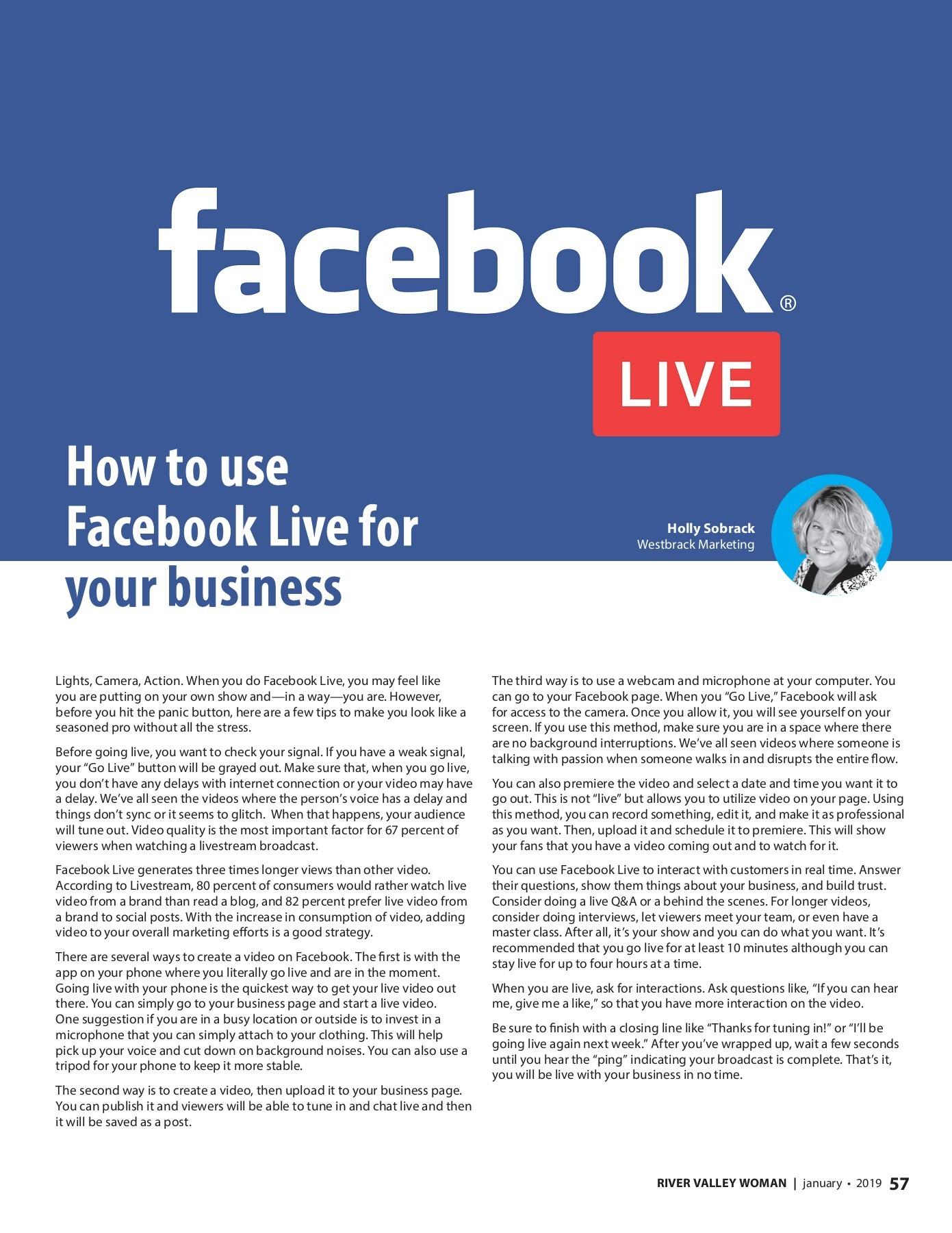 Facebook Live Tips for Southern Minnesota | Social Media | Westbrack