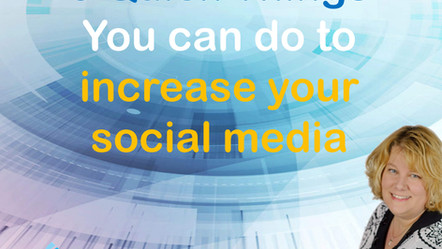 3 Quick Things you can do to increase your social media presence.