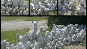 Dog Statues at Nagels Nursery in Minnesota