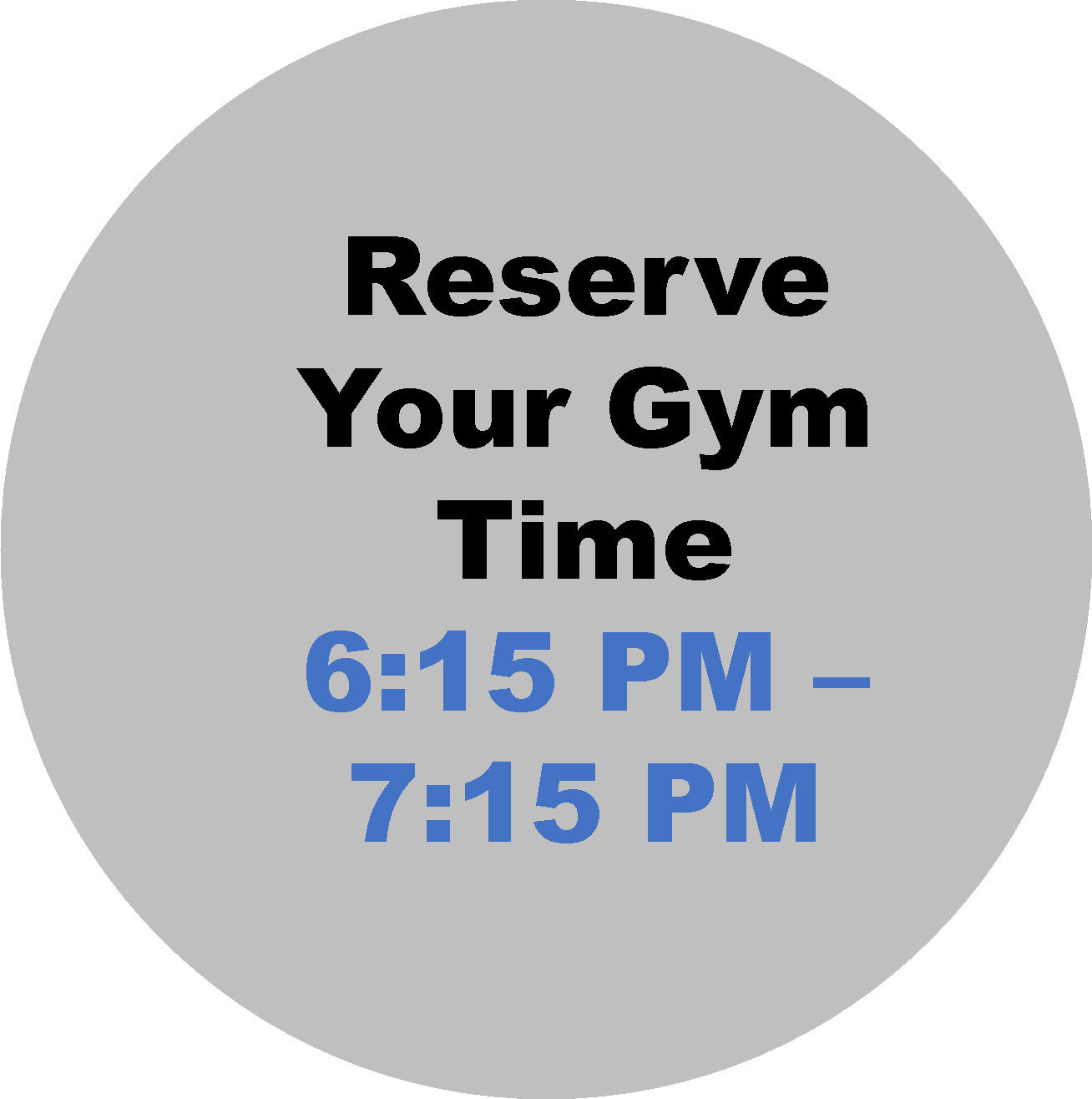 6:15- 7:15 PM  Workout Hour