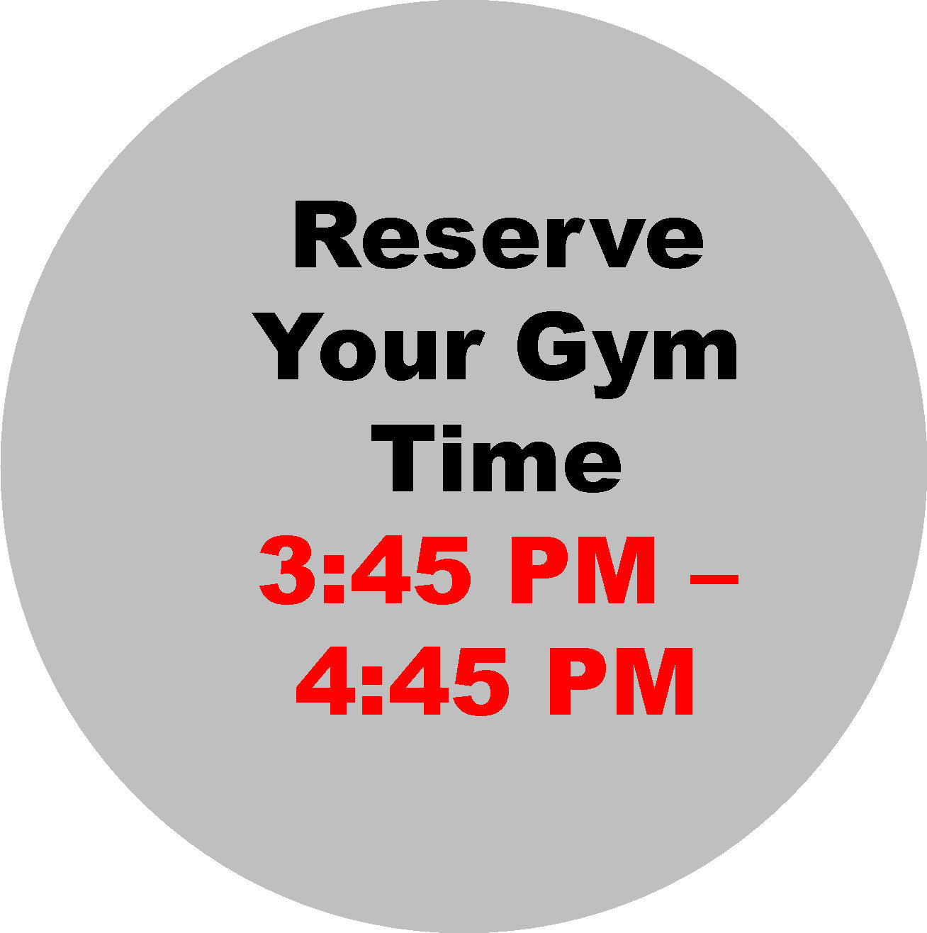 3:45-4:45 PM  Workout Hour