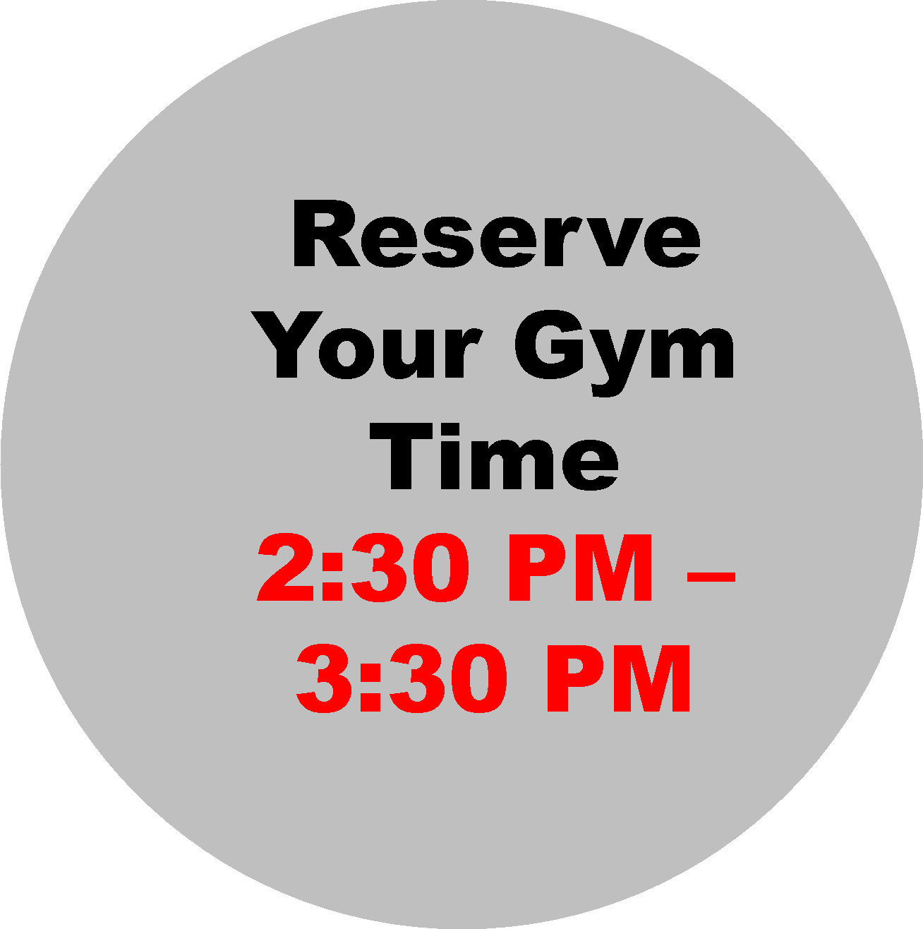 2:30 - 3:30 PM  Workout Hour