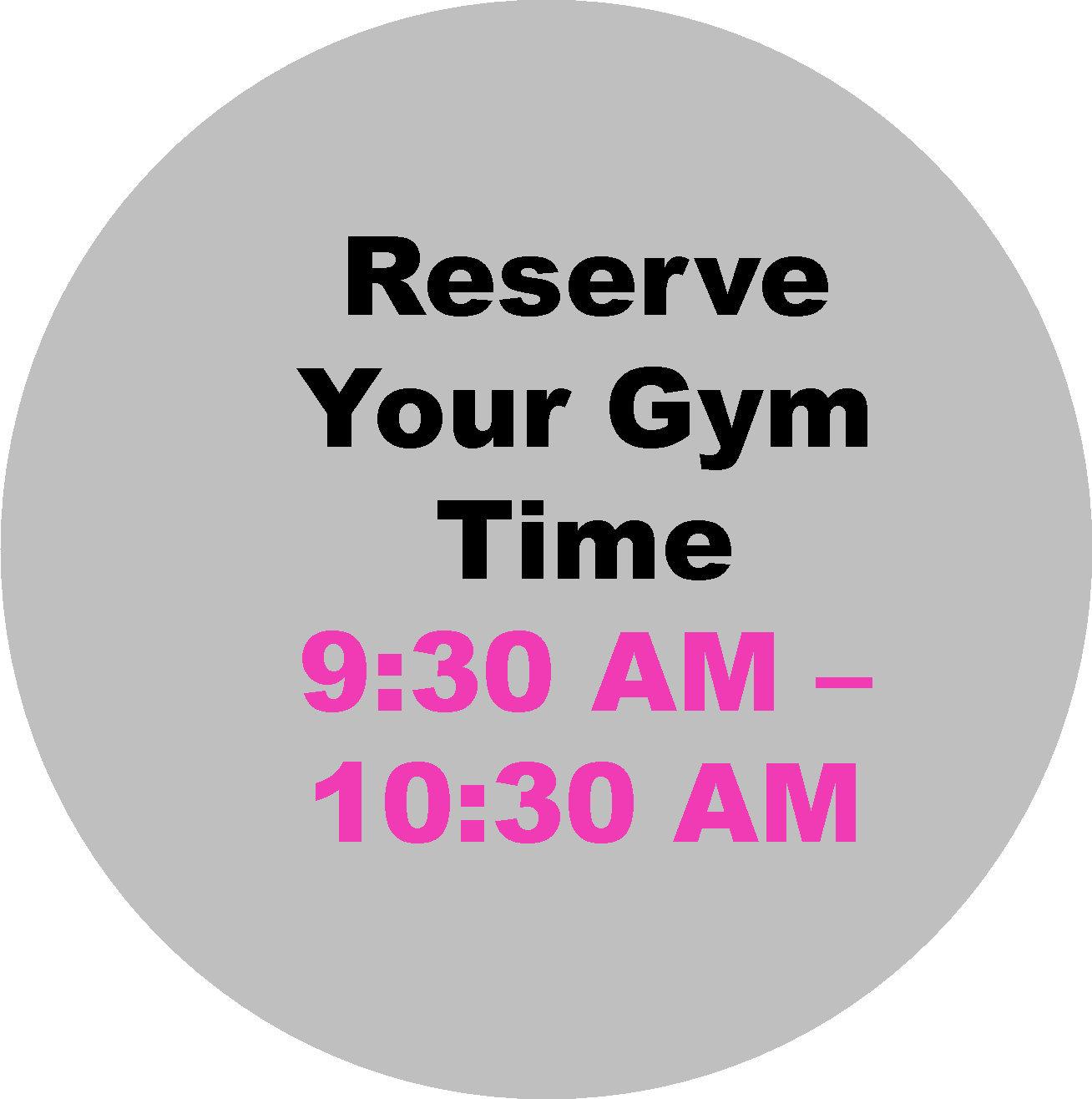 9:30 AM - 10:30 AM Workout Hour