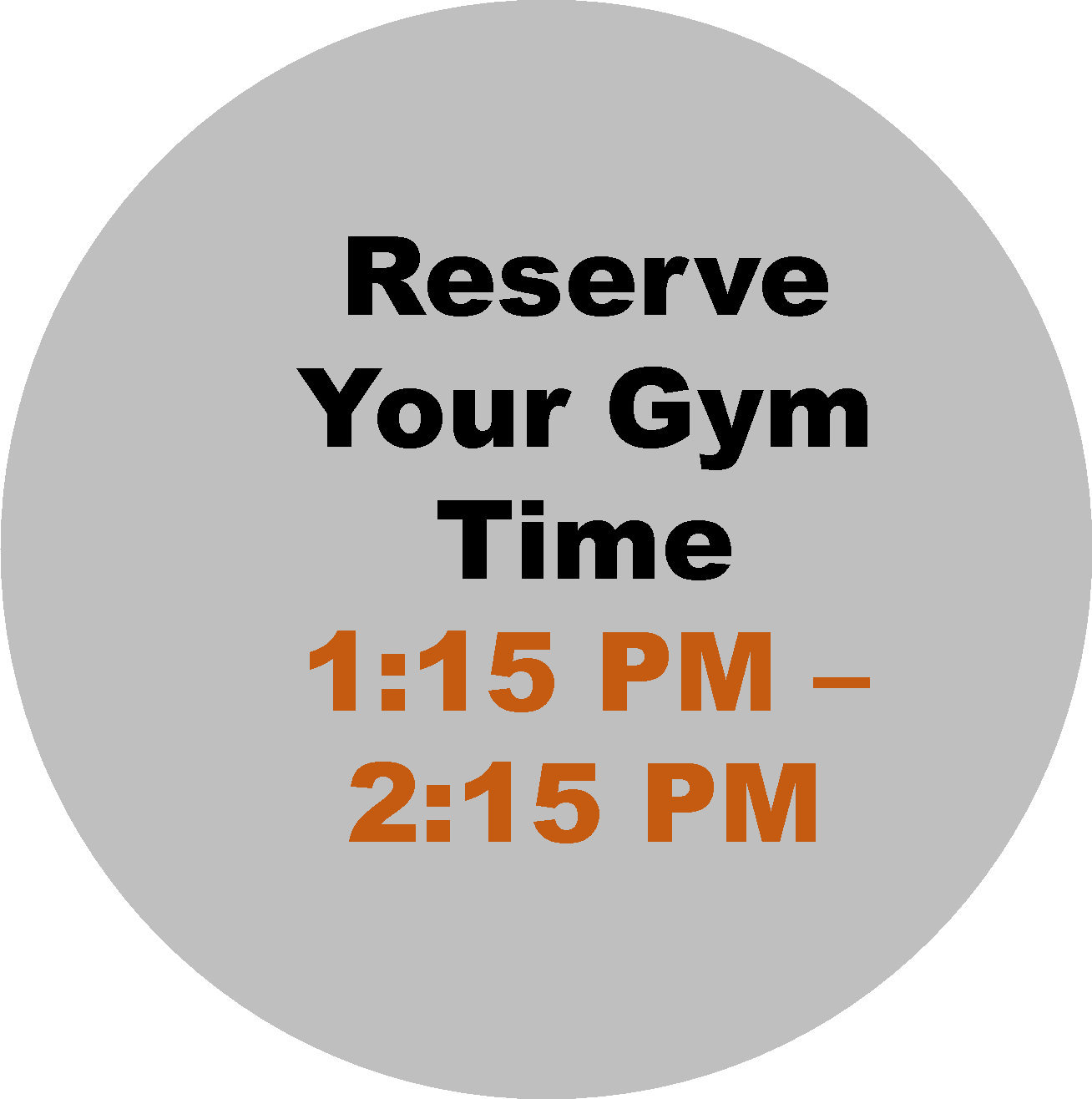 1:15 PM - 2:15 PM  Workout Hour