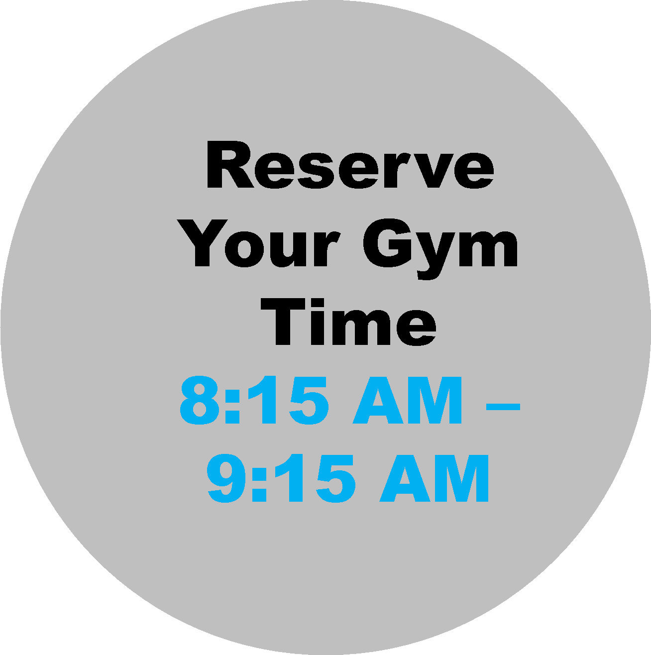 8:15 AM - 9:15 AM Workout Hour