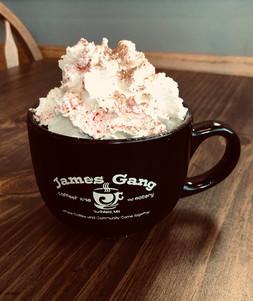 James Gang Coffee Peppermint Hot Chocola