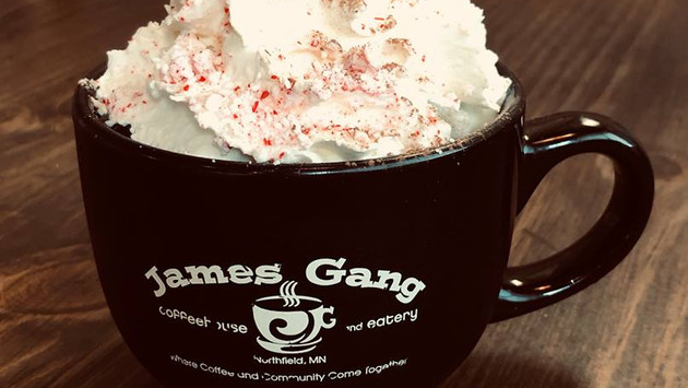 James Gang Coffee Peppermint Hot Chocola
