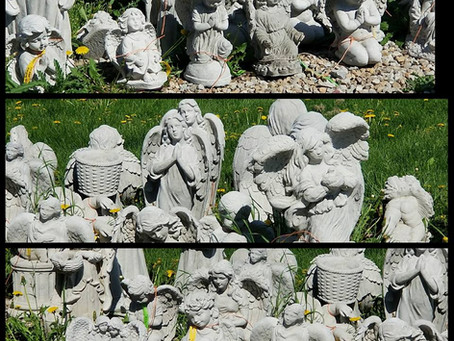 Memorial Statues at Nagels Nursery in Minnesota