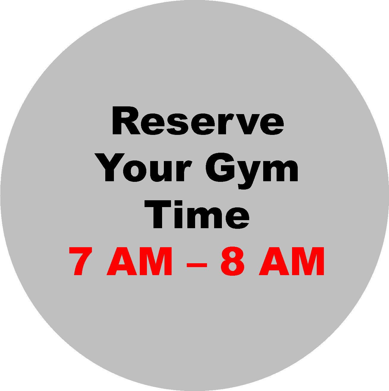 7 AM - 8 AM Workout Hour