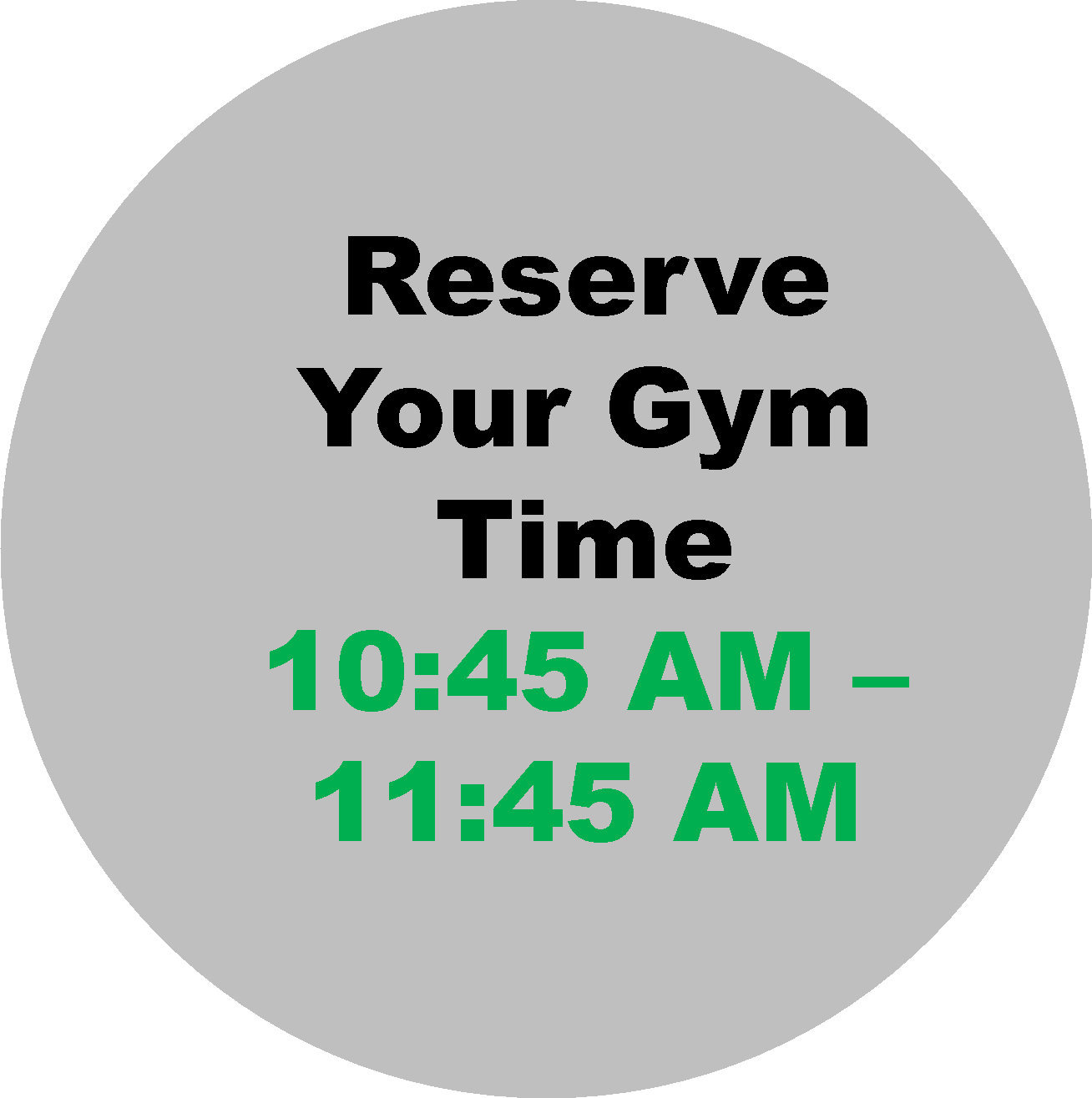 10:45 - 11:45  Workout Hour
