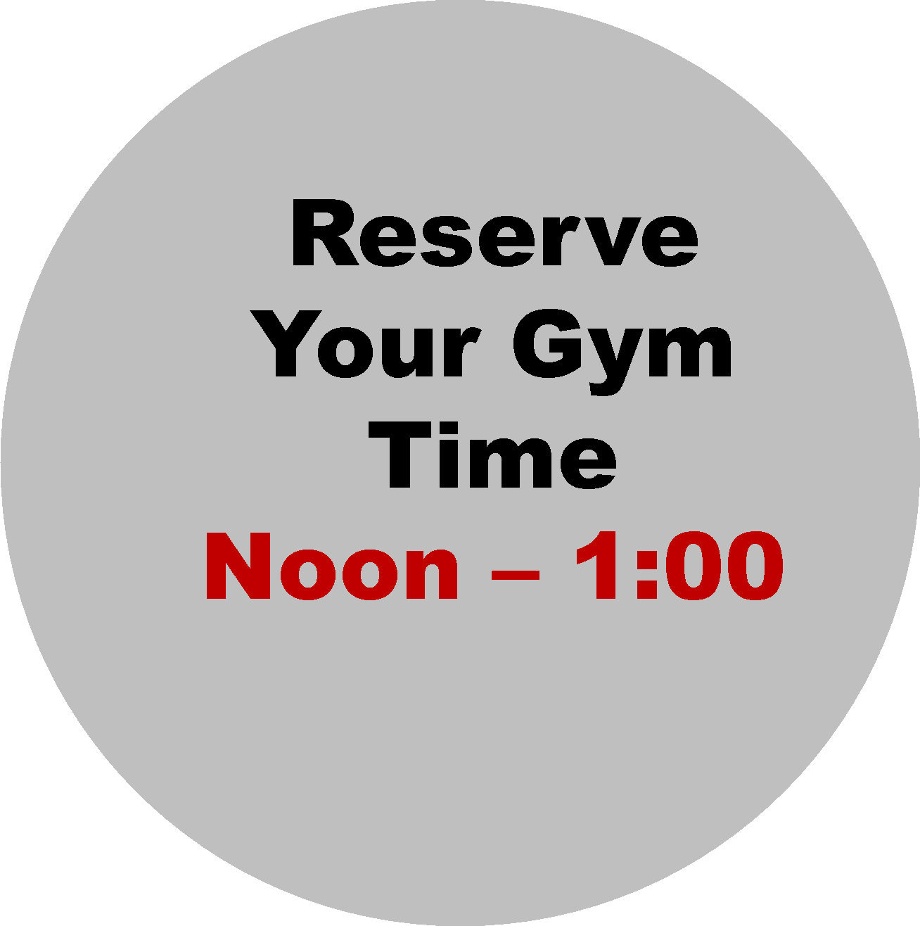 Noon- 1:00 PM  Workout Hour