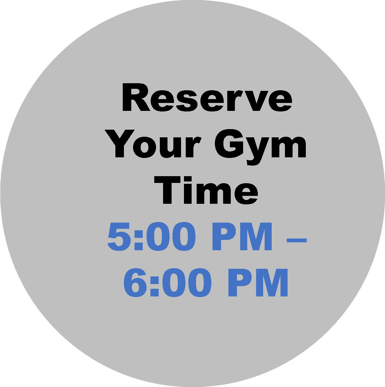 5:00 - 6:00 PM  Workout Hour