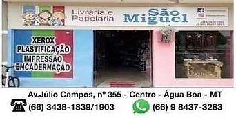 Livraria e Papelaria São Miguel Água Boa MT