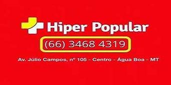Farmácia Drogaria Hiper Popular Água Boa MT